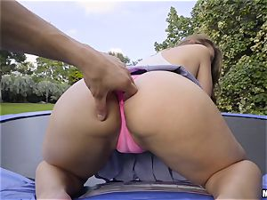 bouncing stunner Ivy Rose ravaged in her cock-squeezing pussyhole