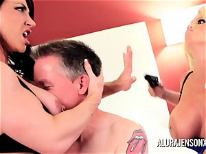 Alura Jenson mummy three-way pulverize with Brandi May