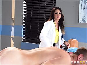 mouth-watering physician Jessica Jaymes relieves her pulsating patient
