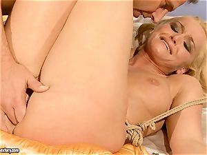 scorching Kathia Nobili gets her coochie filled with lollipop