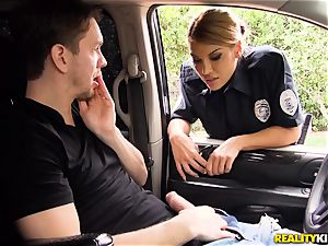 Police officer Mercedes Carrera lets Markus off as she is kinky today
