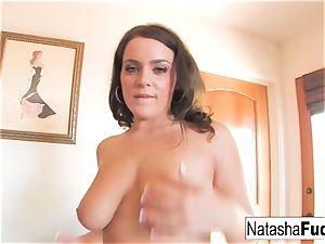 Natasha fucks Her arse With a Purple plaything