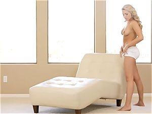 witness her unwrap and make herself jizz