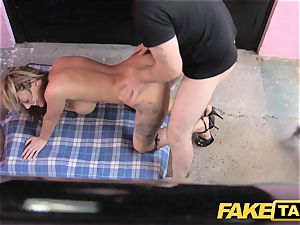 faux taxi lengthy gams tats and excellent udders