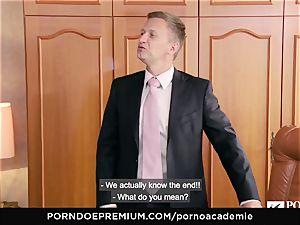 porn ACADEMIE Lana Rhoades loves pummeling French rod