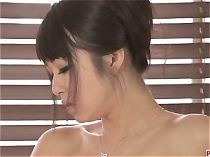 mind-blowing Kotomi groping and playing her raw and fur covered honeypot