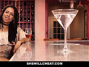SheWillCheat - cheating wifey smashes big black cock in douche