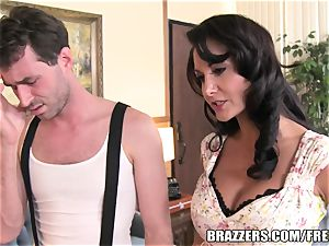 Brazzers - Ava Addams - two greedy gullets on His knob