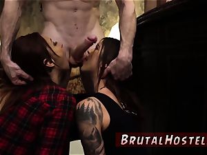 Finger ravage bondage and strap-on raunchy sex threesome exhilarated young tourists Felicity