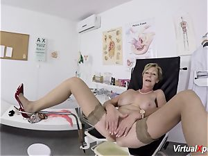 big-chested grandma gets pov pulverized by her physician