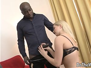 steaming blondie wifey takes bbc in her caboose