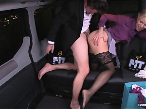 porked IN TRAFFIC - Christmas car orgy with Swedish stunner
