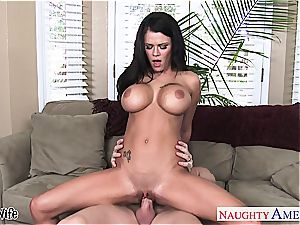 busty wife Peta Jensen riding penis