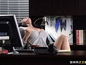 secretary Jayden Jaymes bangs on the bosses desk
