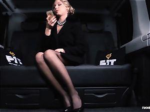 boinked IN TRAFFIC - uber-sexy Russian damsel sizzling car plow