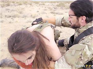 iron Gear Solid five buttfuck porno parody with kinky dark-haired Casey Calvert