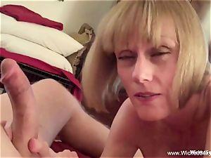 2 cocks For amateur GILF mom