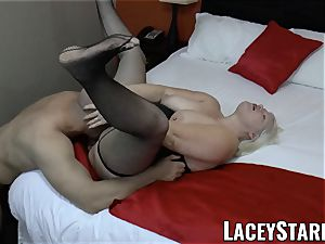 LACEYSTARR - GILF tempts ginormous dicked wolf into drilling