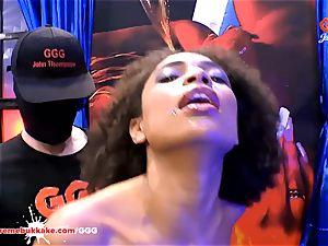 mind-blowing ebony Latina Luna Corazon bellows in sheer pleasure
