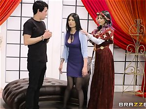 vagina boinked trio with Yurizan Beltran and Brenna Sparks
