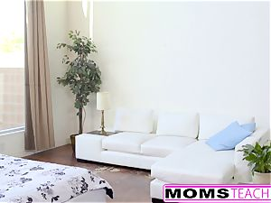 MomsTeachSex - warm Step-Mom And teenager Get filthy facial