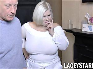 LACEYSTARR - huge-chested GILF negotiates a excellent vulva deal