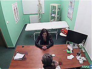 Hidden web cam hook-up in the doctors office