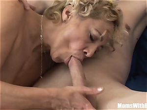 Souled grandmother sucking And ravaging firm man sausage