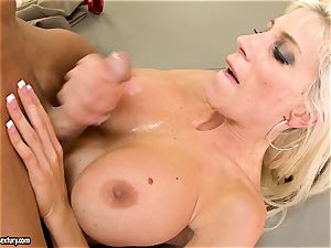 Alluring Puma Swede gets her snatch stuffed with man rod