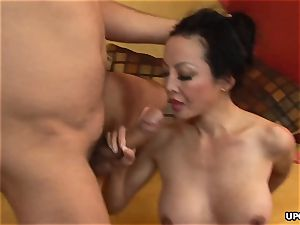 insane chinese girl Angie Venus takes it in the rear