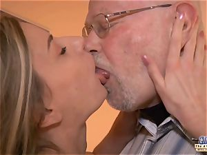 young assistant penetrates older fellow manager smashes marvelous nymph