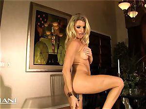 killer cougar uses a massive dildo on herself