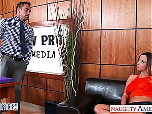 nasty office babe Jada Stevens gets donk drilled