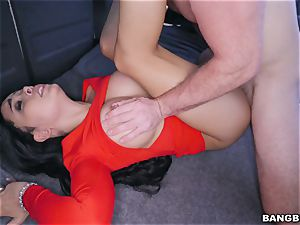 Aaliyah Hadid picked up and ravaged on the BangBus