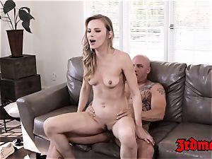 Jillian Janson Gets blasts on sofa