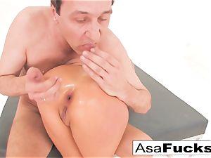 Asa Akira has a sizzling anal invasion three way
