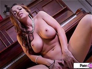Abigail Mac showcase you how much she loves to spunk for you