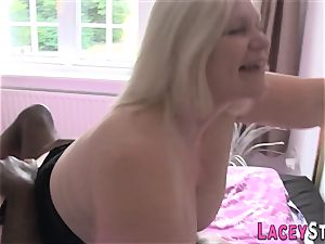 Lacey Starr drilled rock hard by a ebony stud