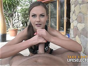 amazing dark haired ballerina Tina Kay is humping point of view