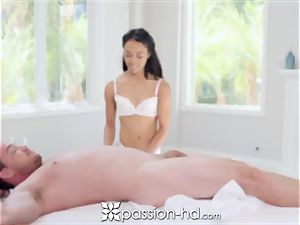 PASSION-HD Nuru cascading rubdown shag with chinese twat