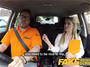 fake Driving college Georgie Lyall Off Duty hook-up