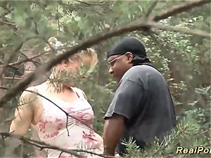 big-chested stepmom likes bang-out in nature