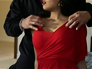 buxom latina Mercedes Carrera plumbed in her cock-squeezing moist snatch