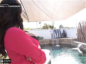 shag Confessions wife Ariella tears up the pool guy