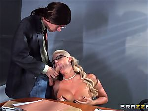 Phoenix Marie getting squirted with jizz by Danny D