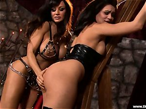 Alluring Lisa Ann tortures a insatiable Charley haunt