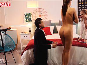 LETSDOEIT naughty Artist drills hot Spanish couple