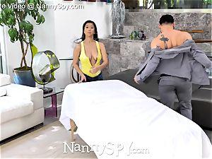 NannySpy chinese sitter Jade Kush rubdown screwed