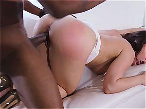 milky wife Whitney cuckolds her dark-hued hotwife spouse