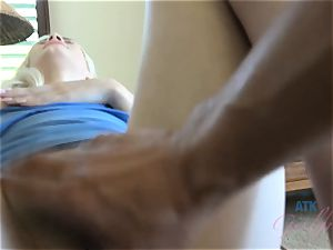 Elsa jean's perfect cooter gets a ideal internal cumshot